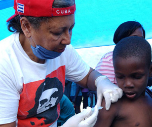 Brigada médica cubana en Haití