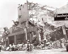 Terrorismo  quema de la tienda El-Encanto