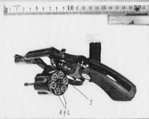 Arma utilizada por Monika para hacer justicia