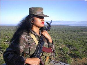 Cubana del servicio militar voluntario