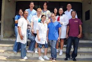 Miembros de la Brigada Medica Cubana en San Pedro Sula Honduras