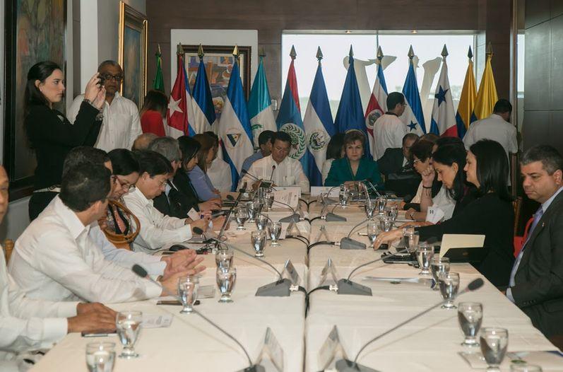 Reunión de cancilleres centroamericanos con Cuba para buscar solución a crisis migratoria celebrada en días pasados