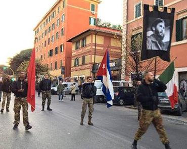 Org. solidarias y grupos de izq. rinden hom. a Fidel enItalia.